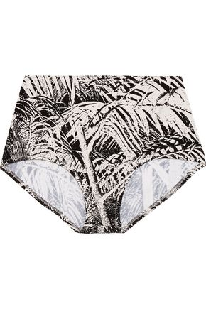 NORMA KAMALI High-rise printed bikini briefs