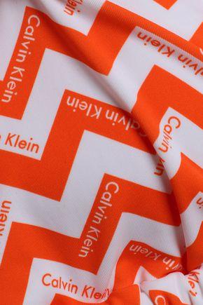 CALVIN KLEIN Printed triangle bikini top