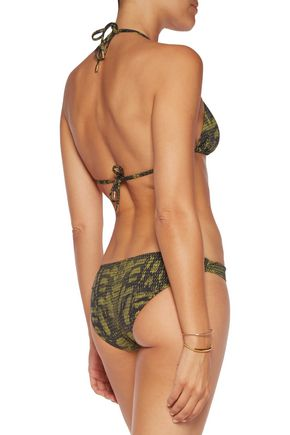 CALVIN KLEIN Low-rise printed bikini briefs