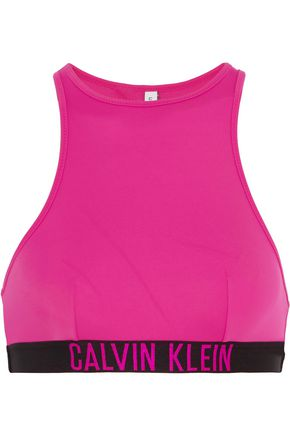 CALVIN KLEIN Cutout stretch-jersey bikini top