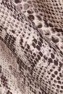 NORMA KAMALI Aztec cutout snake-print swimsuit