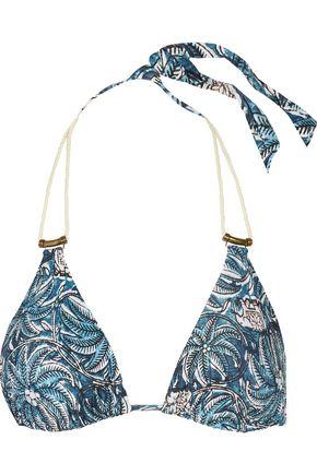 VIX Jakarta Thai printed triangle bikini top