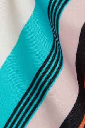 VIX Vingtage Stripe Bia printed low-rise bikini briefs