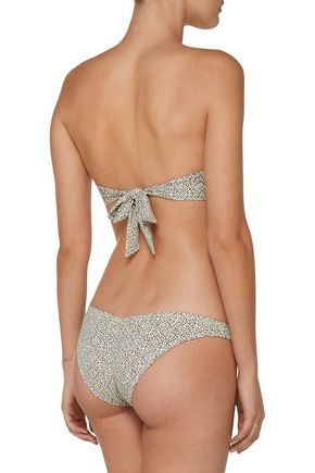 EBERJEY Havana Soul Allie ruched printed low-rise bikini briefs