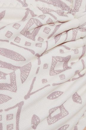 EBERJEY Sandbar Cecily printed bandeau bikini top
