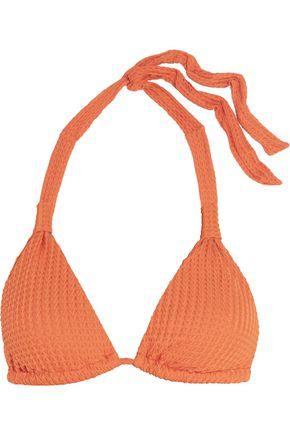 EBERJEY Rip Tide textured halterneck bikini top