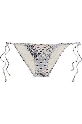 EBERJEY Drifter Kate low-rise printed bikini briefs