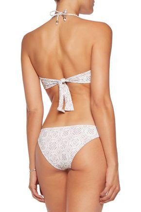 EBERJEY Sandbar Valentina low-rise printed bikini briefs