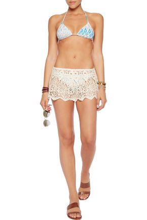 EBERJEY Sun Warrior macramé lace shorts