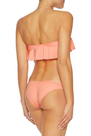 EBERJEY Beach Glow ruffled low-rise bikini briefs