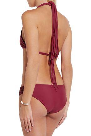 MIKOH Italia macramé-paneled bikini briefs