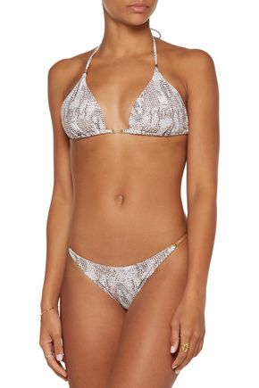 HEIDI KLUM SWIM Sun Dappled Decadence snake-print triangle bikini top