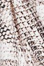 HEIDI KLUM SWIM Sun Dappled Decadence snake-print triangle bikini top