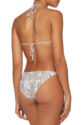 HEIDI KLUM SWIM Sun Dappled Decadence low-rise snake-print bikini briefs