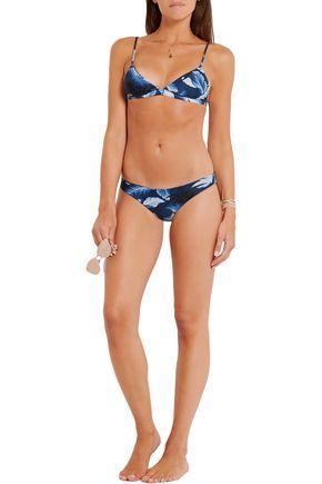 MIKOH Belize printed triangle bikini top