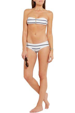 HEIDI KLEIN Nantucket striped stretch-cloqué bandeau bikini top