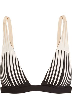 LA PERLA Voyage laser-cut triangle bikini top