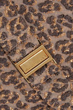 ZIMMERMANN Pavilion metallic leopard cloqué triangle bikini