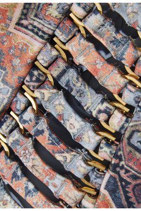 ZIMMERMANN Embellished printed halterneck bikini