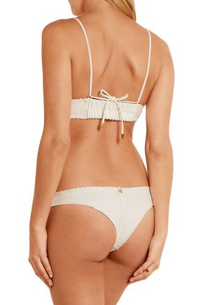 VIX Helen snake-effect bikini briefs