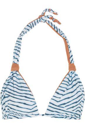 VIX Dune printed triangle bikini top