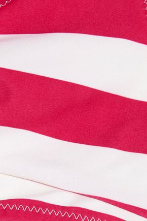SOLID & STRIPED Jane knotted striped bikini top