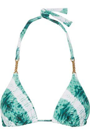 VIX PAULAHERMANNY Embellished printed triangle bikini top