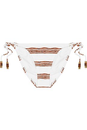 VIX Low-rise striped bikini briefs