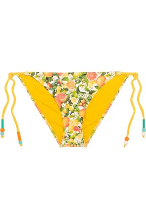 STELLA McCARTNEY Beaded printed triangle bikini briefs