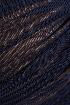 NORMA KAMALI Johnny D stretch-mesh bandeau bikini top