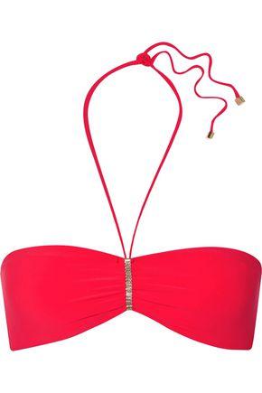HEIDI KLUM SWIM Chain-embellished bandeau bikini top
