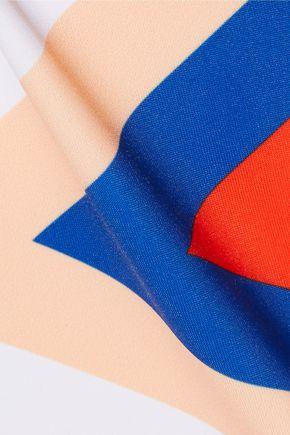 P.E NATION Triple Play one-shoulder color-block swimsuit