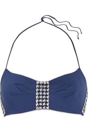 LA PERLA Summer Chain embellished halterneck bikini top