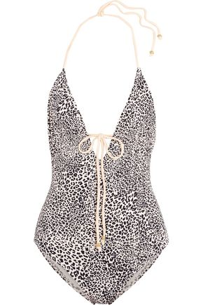 EBERJEY Cat Eyes Charlie leopard-print swimsuit