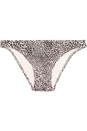 EBERJEY Cat Eyes Valentina low-rise leopard-print bikini briefs