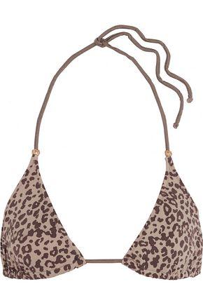 EBERJEY Cheetah Girl Gisele leopard-print bikini top