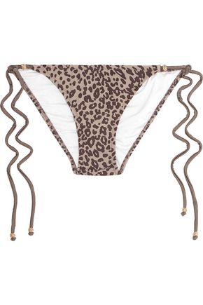 EBERJEY Cheetah Girl Kate leopard-print bikini briefs