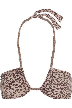 EBERJEY Cheetah Girl Phoebe leopard-print bikini top