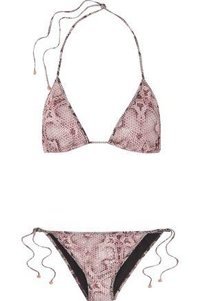 ROBERTO CAVALLI Printed triangle bikini
