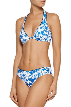 HEIDI KLUM SWIM Printed underwired halterneck bikini top