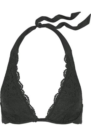 HEIDI KLUM SWIM Jetset Dreamer lace halterneck bikini top