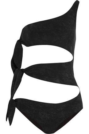 LISA MARIE FERNANDEZ Bianca one-shoulder cutout printed swimsuit ...