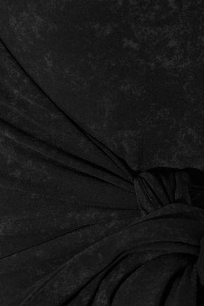 LISA MARIE FERNANDEZ Wrap-effect printed swimsuit