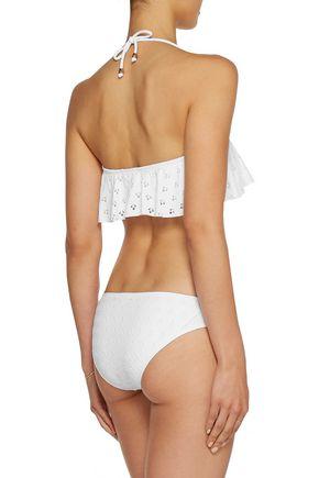 EBERJEY Salty Kisses Tutu ruffled bandeau bikini top