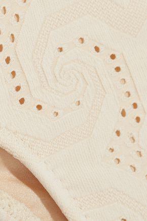 EBERJEY Wandering Spirit Coco crochet-trimmd paneled bikini briefs