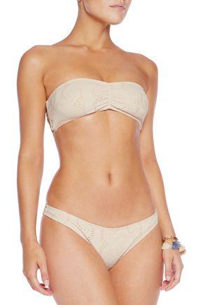 EBERJEY Wandering Spirit Oona crochet-trimmed paneled bandeau bikini top