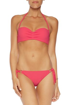 CALVIN KLEIN Gathered halterneck bikini top