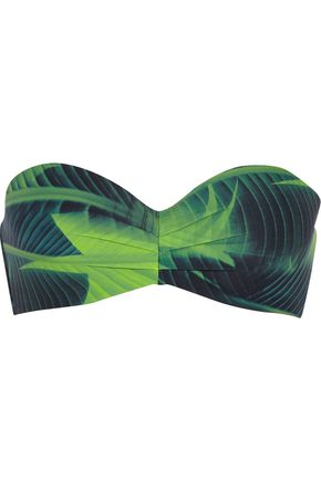 CALVIN KLEIN Printed bandeau bikini top