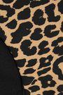 GANNI Leopard-print triangle bikini