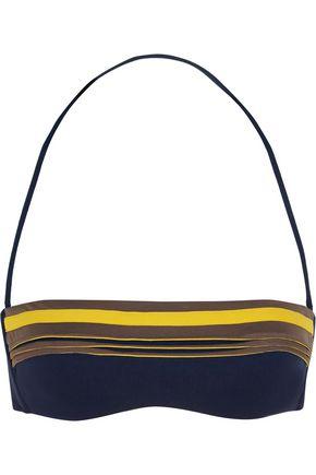 LA PERLA Corniche appliquéd bandeau bikini top